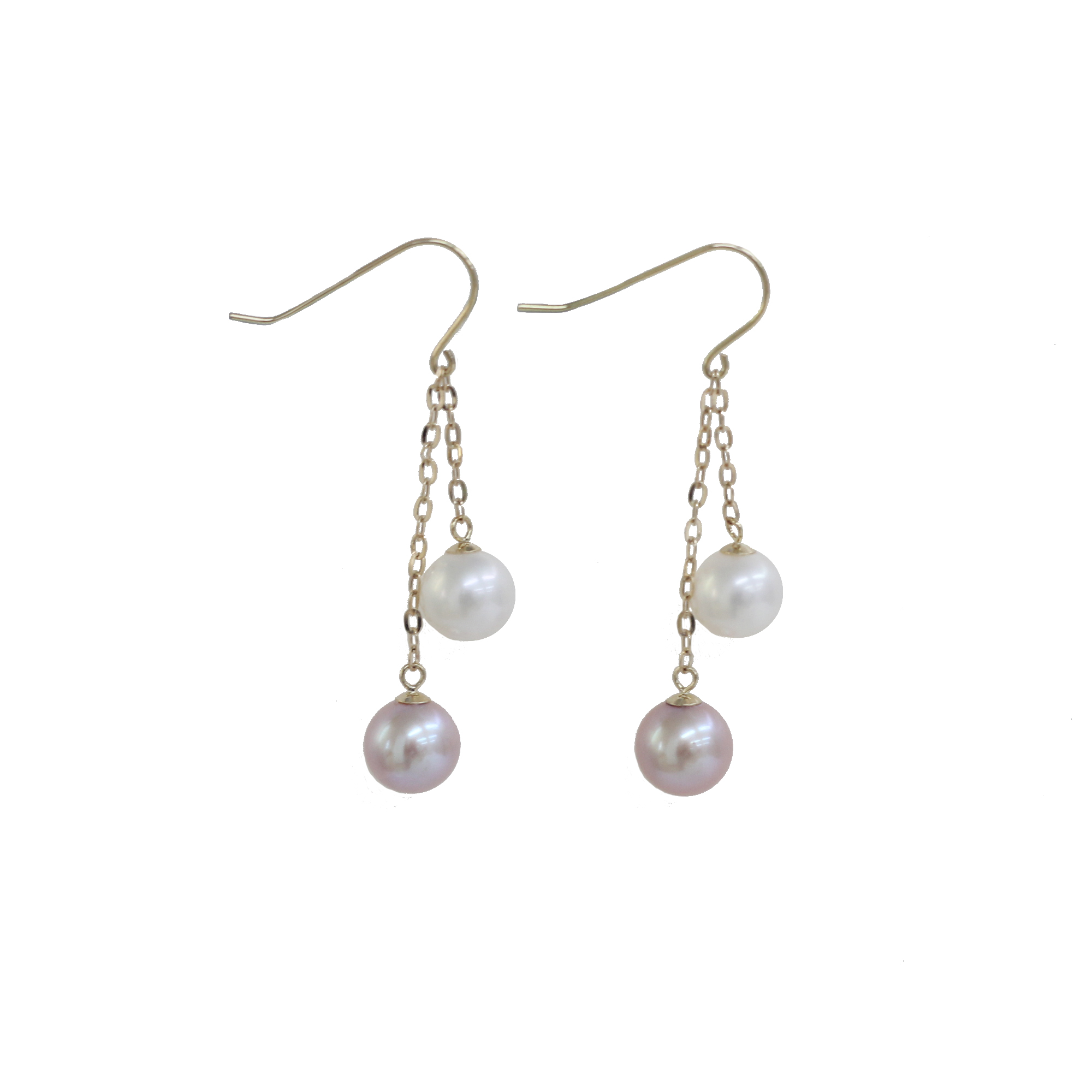 18K Earrings Freshwater Pearl