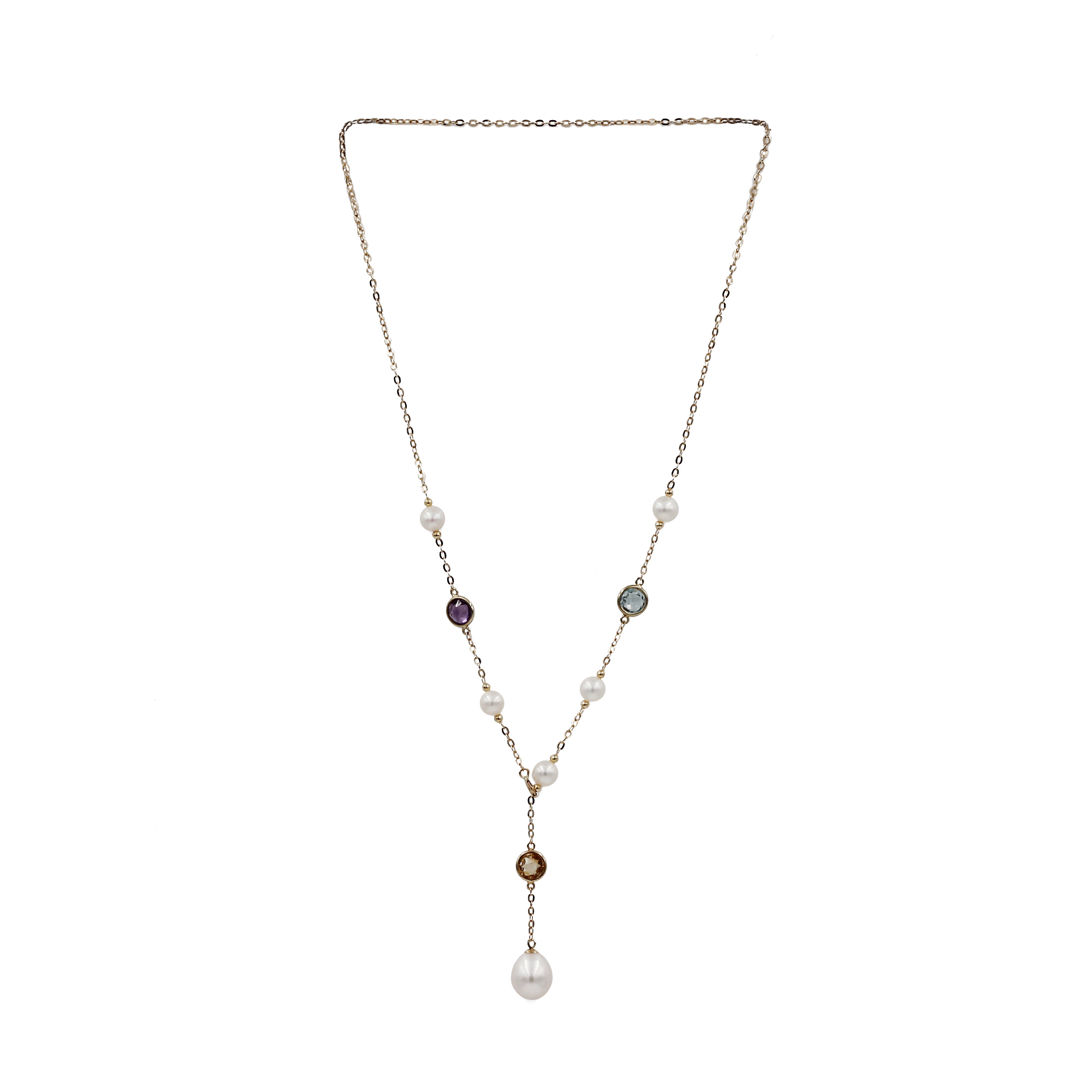 18K Necklaces Freshwater Pearl
